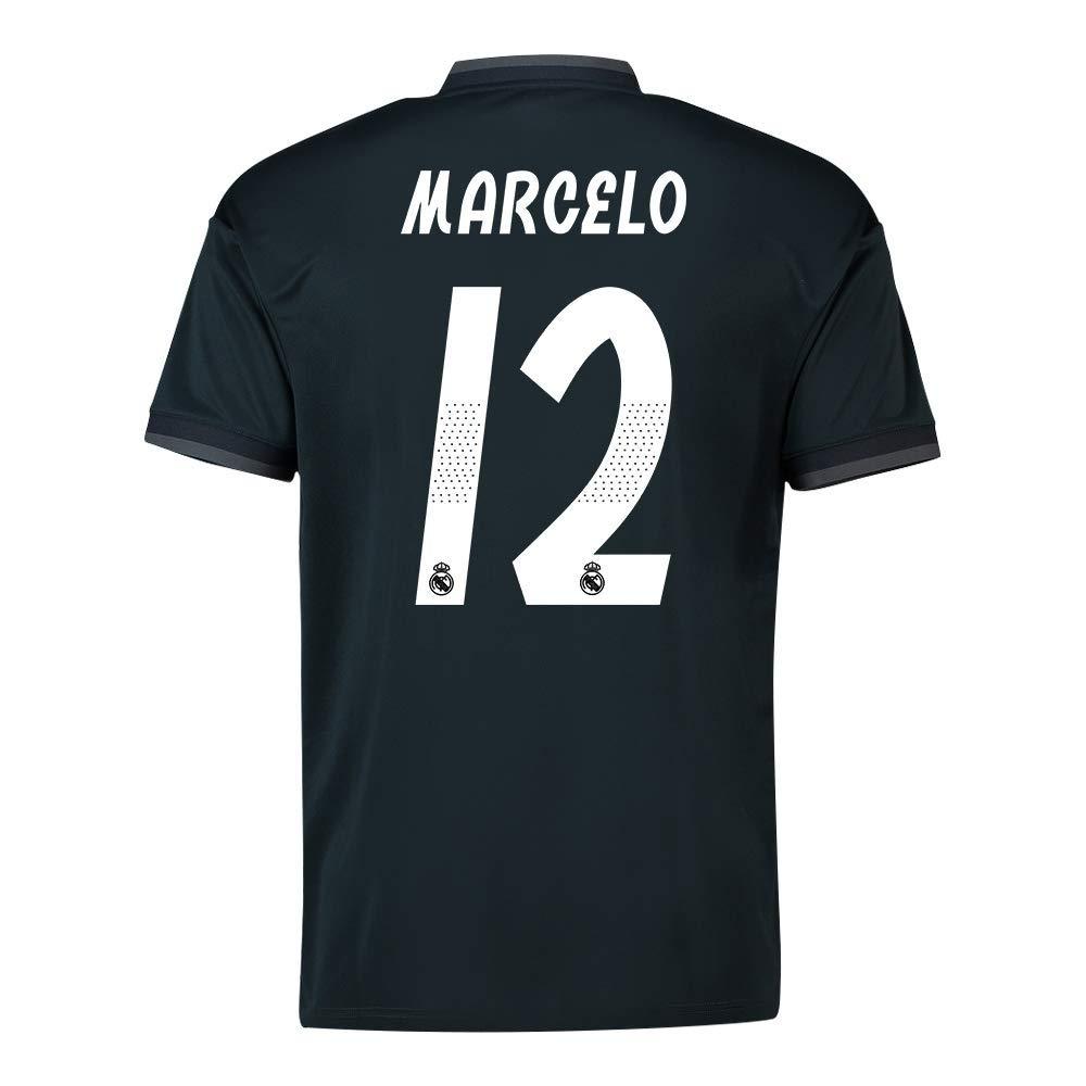 セール特価 2018-19 Away Real Madrid 2018-19 Away Shirt (Marcelo Vieira 12) Black B07H9QW827 XXXL 48-50