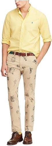 Camisa Polo Ralph Lauren Oxford Amarilla para Hombre S Amarillo: Amazon.es: Zapatos y complementos