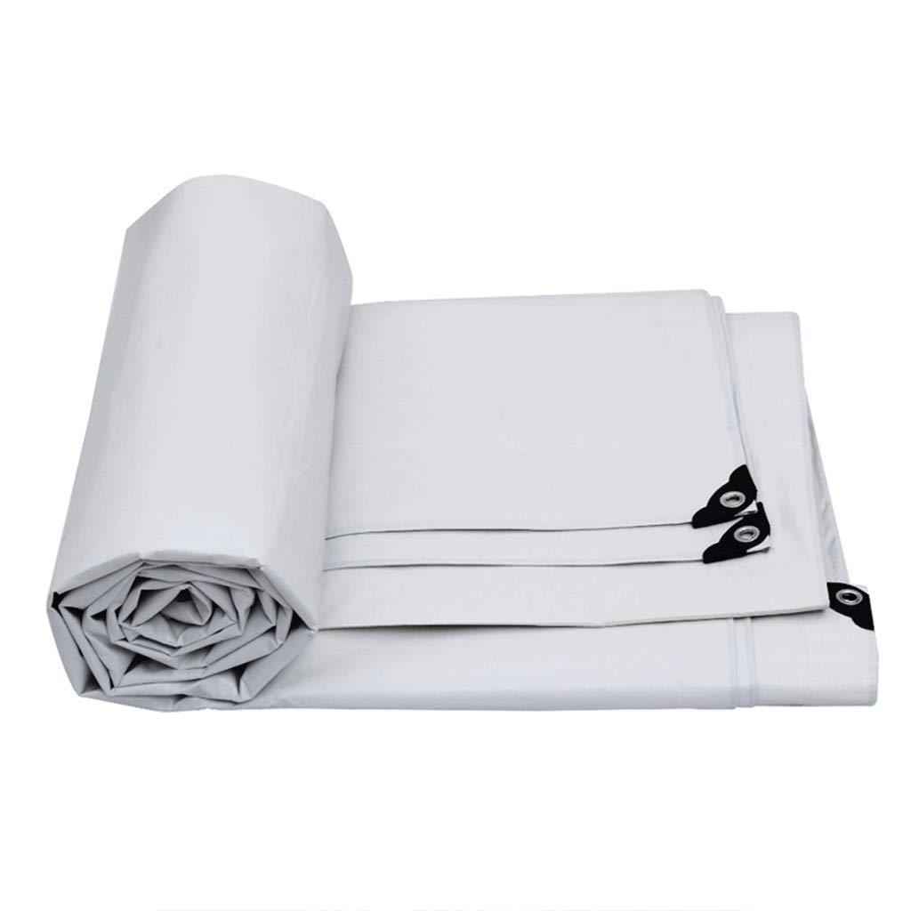 ターポリンキャノピーポンチョカーターポリン屋外サンスクリーン (色 : 白, サイズ さいず : 6m*4m) 6m*4m 白 B07QG6RM66