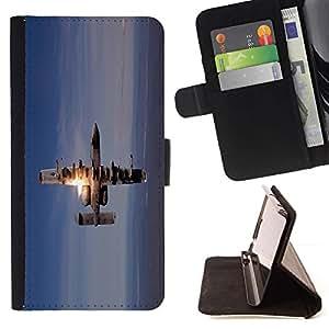 Momo Phone Case / Flip Funda de Cuero Case Cover - Figther Jet Plane;;;;;;;; - LG G3