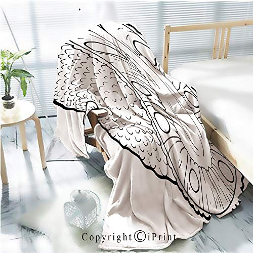 AngelSept Printed Throw Blanket Smooth and Soft Blanket,Coloring Book for Children Fruits and Vegetables (Jackfruit) for Sofa Chair Bed Office Travelling Camping,Kid Baby,W31.5 x H47.2