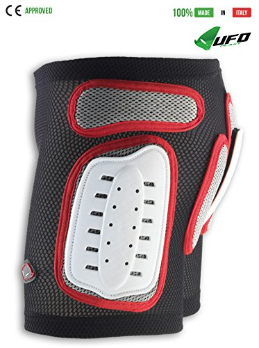 UFO PLAST Made in Italy PI04158 Plastic Padded Shorts for Kids/ Removable Back Protection / Airnet Material / Hip, Side Protection Ergonomic Design for Free Movements / Size: S / Color: White with Red by UFO Plast