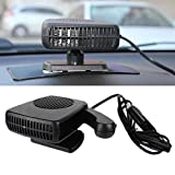 12v auto heater defroster - JKLcom Defroster Car Cooling Fans Heater Cooling Dryer Defroster Demister Fan with Swing-out Handle Portable 12V Ceramic Heating Cooling Fan for Car