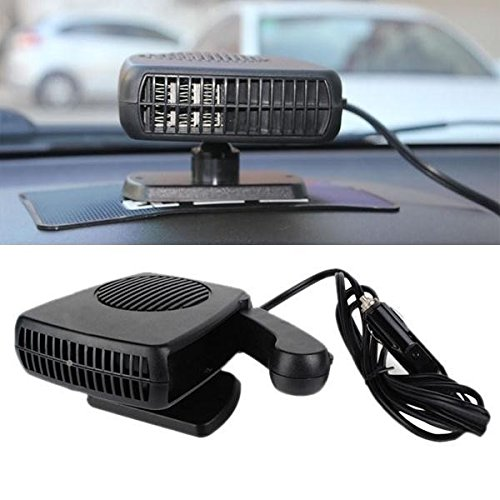 JKLcom Defroster Portable Car Heater Cooling Dryer Defroster Fan with Swing-out Handle for Car