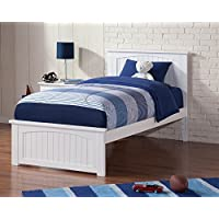 77 in. Eco-friendly Twin XL Bed in White Finish