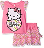 Hello Kitty Little Girls' Toddler 2 Piece Skirt Set, Sugarplum Combo, 3T