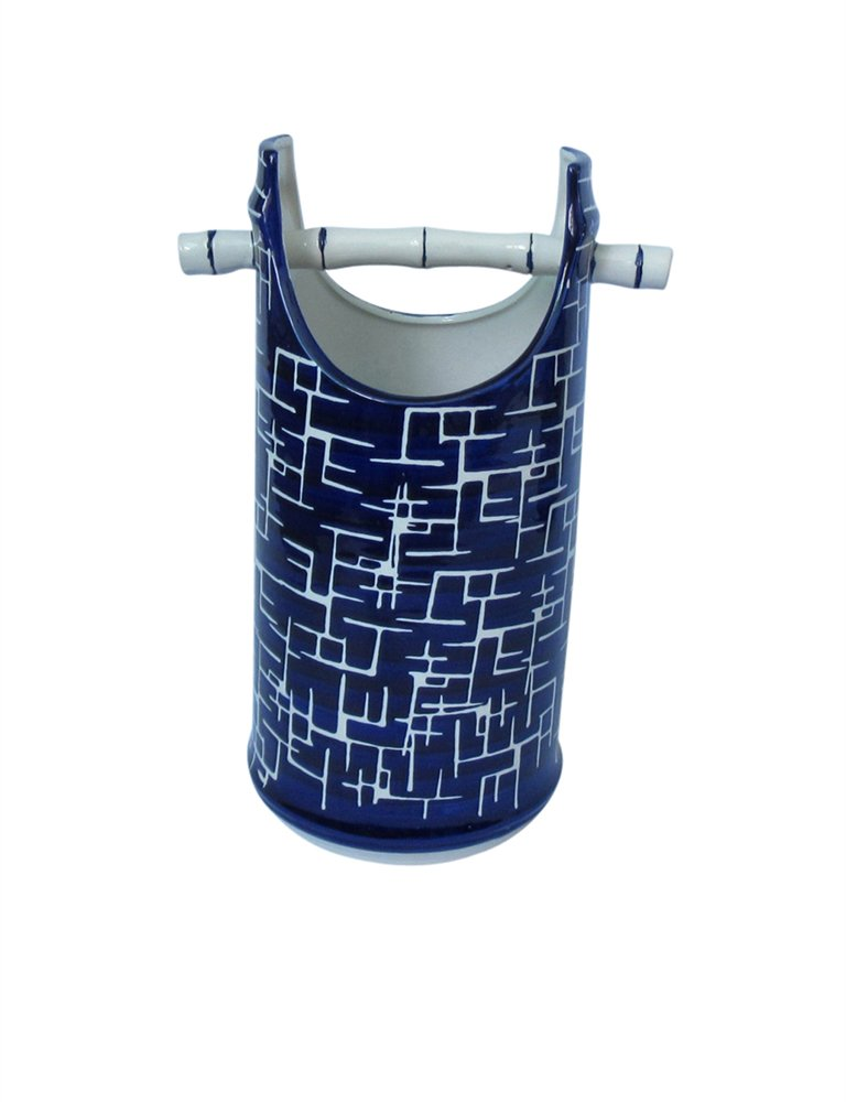 Blue//White Benzara Contemporary Style Ceramic Decorative Vase