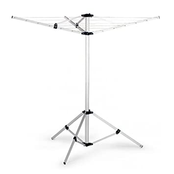 Portable Clothes Rack Tripod Camping Dryer Airer Folding Clothesline Umbrella Drying Aluminum