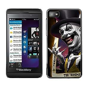 [Neutron-Star] Snap-on Series Teléfono Carcasa Funda Case Caso para Blackberry Z10 [Joker Card Poker Scary sombrero de copa Laugh]
