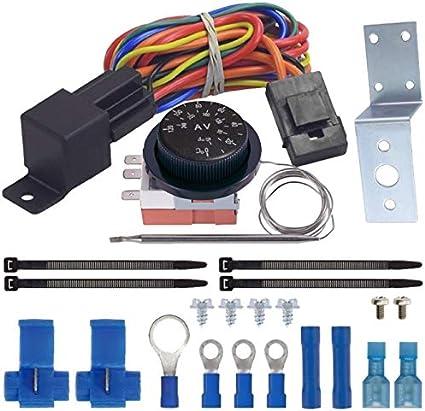 American V ajustable termostato dual eléctrico ventilador cableado ...