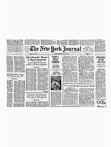Kate Spade Newspaper Journal Placemats, Set of 4 by Kate Spade New York