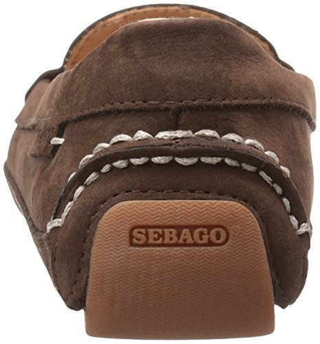 Sebago Womens Kedge Penny Flat Dark Brown Nubuck