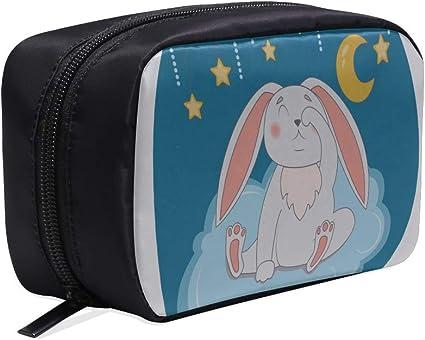 Mujer Bolsa de mano Lazy Little Rabbits Happy Wonder Woman Bolsas Bolsa de viaje Niños Bolsas de cosméticos para mujeres Bolsas de cosméticos de viaje Estuche multifunción Bolsa de cosméticos de viaj: