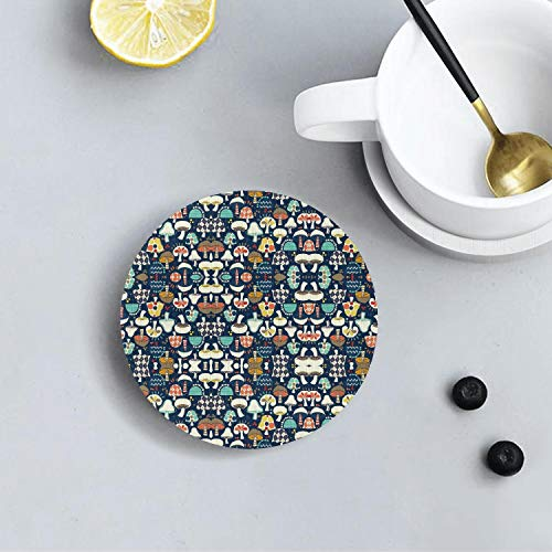 - Argyle Mushrooms Cool Diatomite Drink Coasters Environmental Health Absorbent Coaster Prevent Furniture From Dirty and Scratched Suitable for Kinds Of Cup and Mug