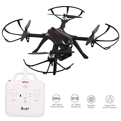 Dayan-Anser-High-Speed-Brushless-Quadcupter-MJX-B3-Bugs-3-RC-Drone-24G-6-Axis-Gyro-with-Camera-Mounts-for-Gopro-C4000-Camera-Weak-Signal-and-Low-Power-Alarm-RTF-Aircraft-with-Bright-LED-Light