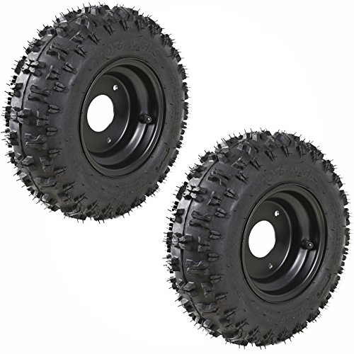 WPHMOTO 4 Sets of 4.10-6 Go Kart ATV Tubeless Tires with Rims | Front and Rear Tire for Scooter Quad Bikes 4 Wheelers by WPHMOTO (Image #5)