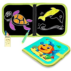 SLHFPX Magna Doodle Board for 2-6 Years Old Girls,Chalk Drawing Book Dust-Free Doodle Board for Kids 2019 Xmas Birthday Gift for 2-7 Years Old Kids Portable Learning Toy