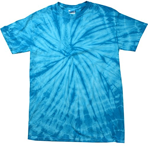 Colortone Tie Dye T-Shirt LG Spider Turq