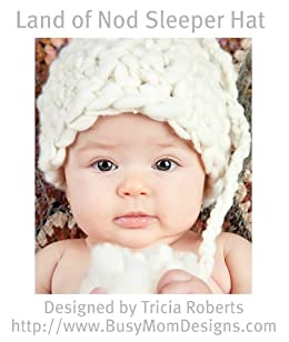 Crochet Pattern - Land of Nod Sleeper Cap - Easy/Beginner Hat Pattern by Busy Mom Designs