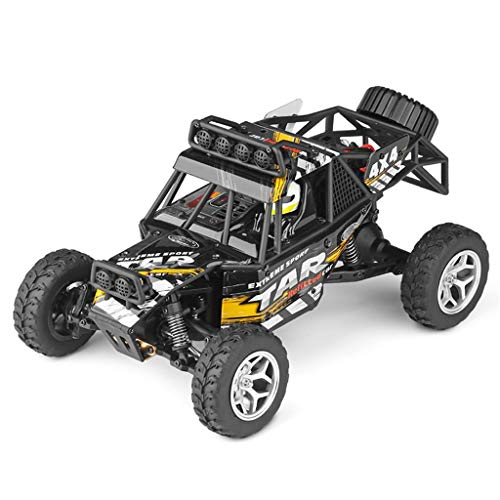 Childrens Day Upgraded 540 Brush Motor High Speed 40km/h 1:18 4D 2.4G RC Car Remote Controll Electric Mode Car Kids Gift (Black)