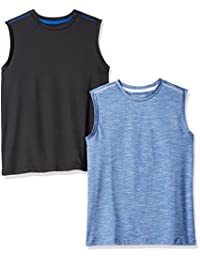 Amazon Essentials Boys Boys' 2-Pack Active Muscle Tank