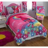 DreamWorks Trolls Complete 5 Piece Girls Comforter Set - Full