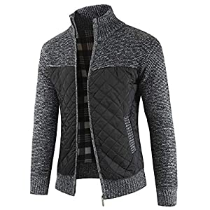 MensLong Sleeve Coats, Cinsanong Sale! Autumn Winter Knit Cardigan Warm Zipper Packwork Fashion Jackets