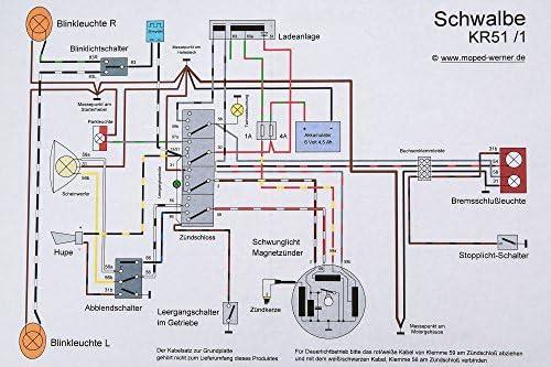 Kabelbaumsatz Set Schwalbe Kr51 1 Inkl Schaltplan Auto