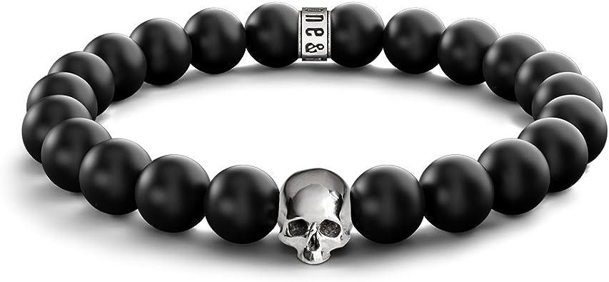 Skull Beaded Bracelet 8MM Matte stones With Tiger Eye Stone Bead MENS /& WOMENS
