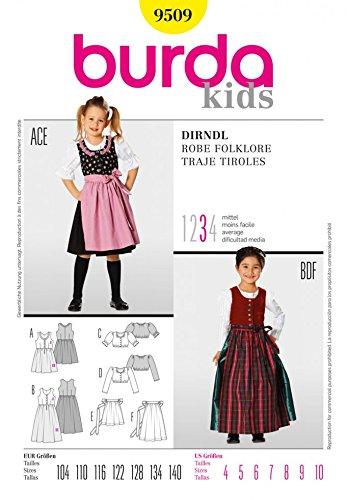 Amazon.com: Burda Childrens Sewing Pattern 9509 Dirndl ...
