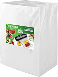 WVacFre 200 Pint Size 6x10Inch Food Saver Vacuum Sealer Bags with Commercial Grade,BPA Free,Heavy Duty,Great for Food Vac Storage or Sous Vide Cooking