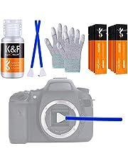 K&F Concept 16mm APS-C Sensor Cleaning Swab + 20ml Sensor Cleaner+Gloves, 16pcs DSLR SLR Digital Camera CMOS and CCD Sensor Cleaning Swab Kits
