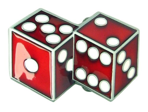 Two Dice Belt Buckle Playing Red - Dice Belt Buckle