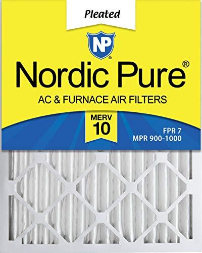 [해외]3의 노르딕 순수한 20x24x2 MERV 10 주름 AC 전기로 공기 정화 기 상자 / Nordic Pure 20x24x2 MERV 10 Pleated AC Furnace Air Filter Box of 3