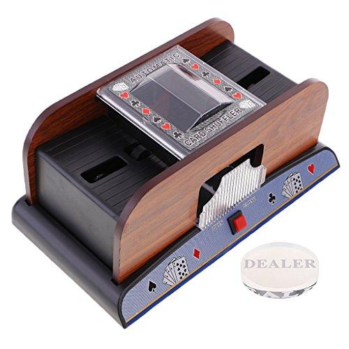 Baoblaze Automatic Card Shuffler 2 Deck Casino Cards Sorter Poker Props with Dealer Durable by Baoblaze