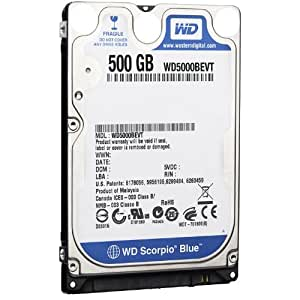 Western Digital 500 GB Scorpio Blue SATA Mobile Internal Hard Drive with 16 MB Cache