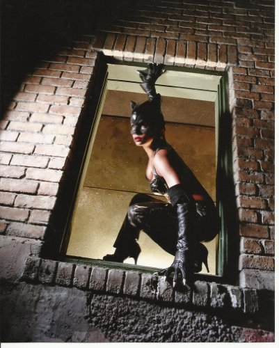 Halle Catwoman Costume Berry (Halle Berry as Catwoman in costume in window shot 8 x 10)