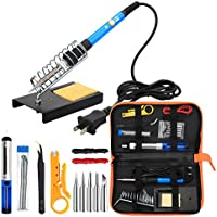 ANBES Soldering Iron Kit Electronics, 60W Adjustable...