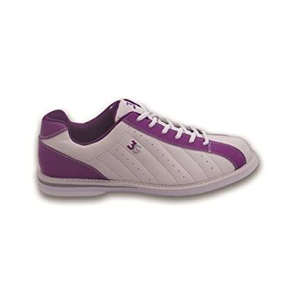 White//Purple Size 7.5 3G Bowling Womens Kicks Bowling Shoes