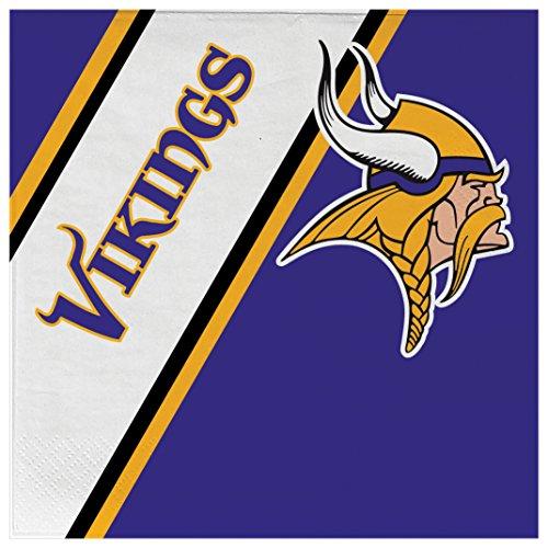 (NFL Minnesota Vikings Disposable Paper Napkins, Pack of)
