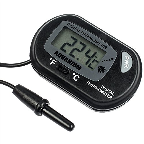 51cIEK5hBYL - Zacro Pack of 2 LCD Digital Aquarium Thermometer Fish Tank Water Terrarium Temperature