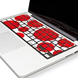 "Kuzy - Circles RED & WHITE Keyboard Cover Silicone Skin for MacBook Pro 13"" 15"" 17"" (with or w/out Retina Display) iMac and MacBook Air 13"" Red/White"