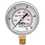 Winters PEM214LF PEM-LF Series Pressure Gauge, 2.5'' Dial size, 1/4'' NPT, 0/100 psi/kpa, ±3-2-3% accuracy