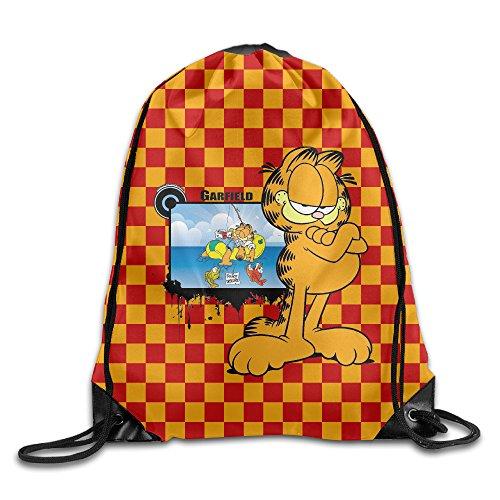 Zengtaoqi Garfield Drawstring Backpacks/Bags. (Draw Garfield)