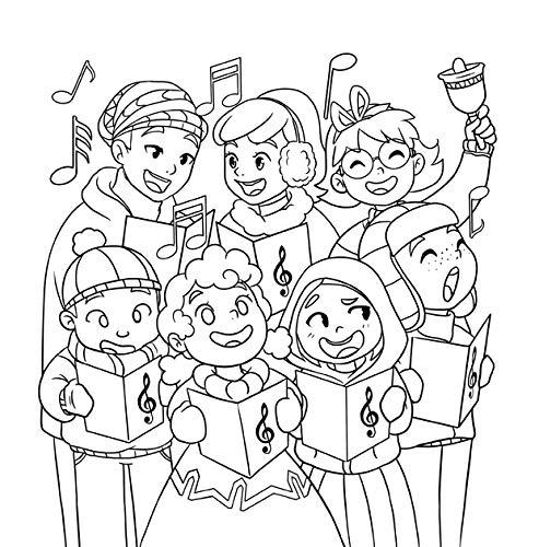 Libro de colorear de Navidad para niños: Libro de Navidad ...