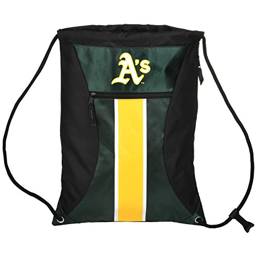 Oakland Athletics Big Stripe Zipper Drawstring Backpack