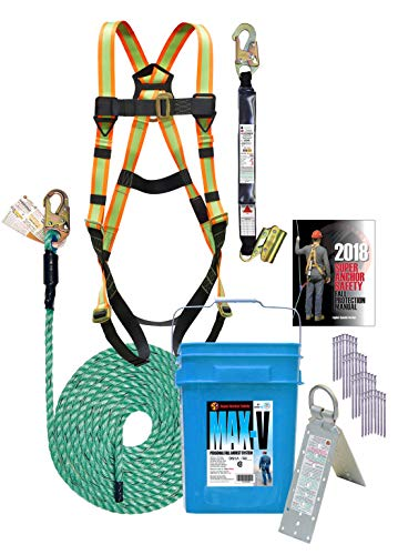 Super Anchor Safety 3200-USA MAX-V Fall Protection Kit, 50' by Super Anchor Safety (Image #1)