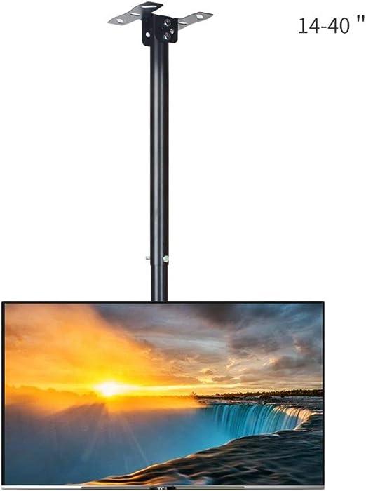 Soporte de TV de Techo, Altura Ajustable Soporte de TV de Techo - Soporte de Montaje Universal Giratorio e inclinable para televisores de Plasma LED LCD de 14-40 Pulgadas: Amazon.es: Hogar
