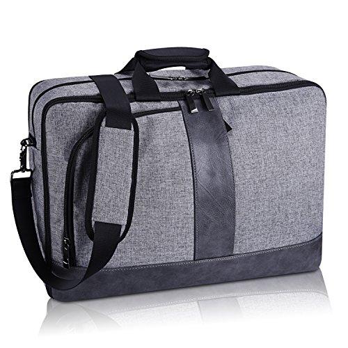 Estarer 17-17.3 inch Laptop Messenger Convertible Backpack B