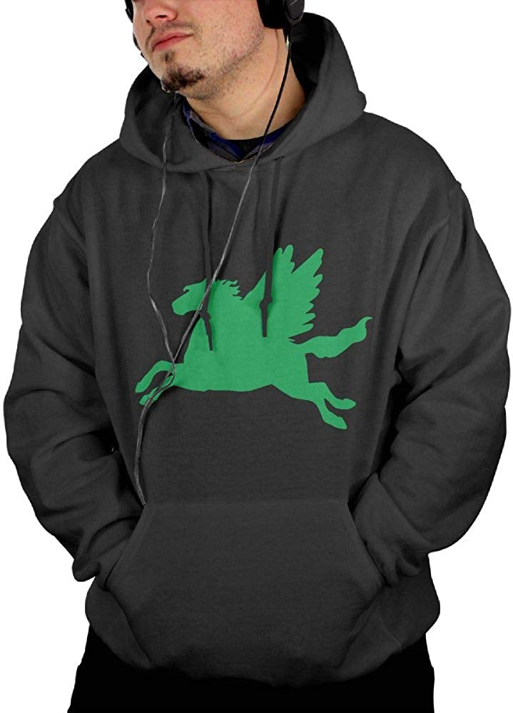 Comfortable 100/% Cotton Sweatshirt with Pocket for Men Ou30IL@WY Mens Horse Flying2 Pullover Hoodie